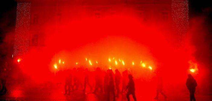 Марш перемиських і львівських орлят. Фото: Lukasz Solski/przemysl.naszemiasto.pl